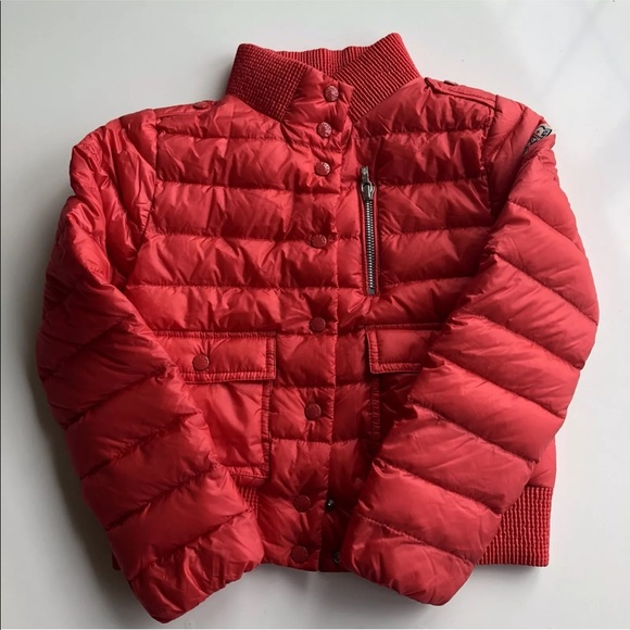9b356b215 Moncler Kids Quilted Down Jacket With Pockets Red